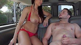 Pornstar Lisa Ann sucking a random guy