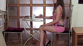 18 year old Masha stripping