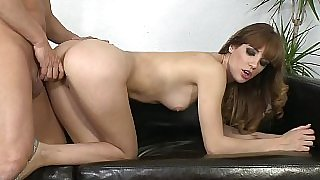 Redhead long legged Carol Vega in fucksting