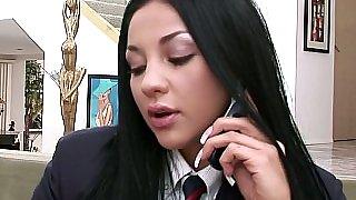 Flirty schoolgirl