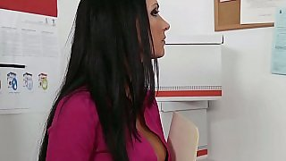 Hot Jessica fucking at work