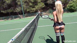 Topless tennis with Dani Daniels