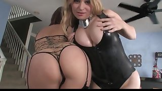 AS and DD 2 on 1 Interracial Blowjob BBC Throat