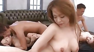 Asian Group Sex Creampie