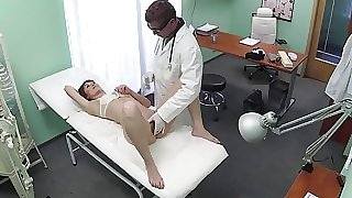 Euro patient squirts after fingered by doc
