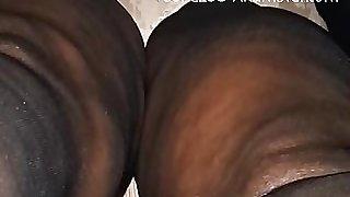 Black Jehovah Witness granny upskirt
