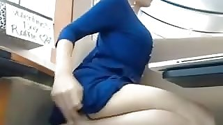 Wet Pussy In The Library