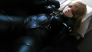 black leather kigurumi vibrating 2