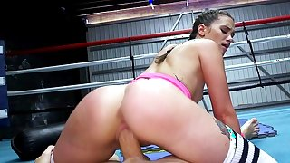 Sporty Gia Paige fucked hard in the boxing ring