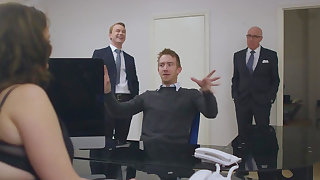 Extreme office porn for woman with massive tits
