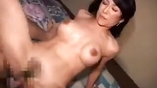 Busty Asian Milf Has A Raging Dick Working Its Magic In Her