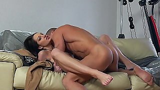 Hungarian horny girl enjoys feeding on cock